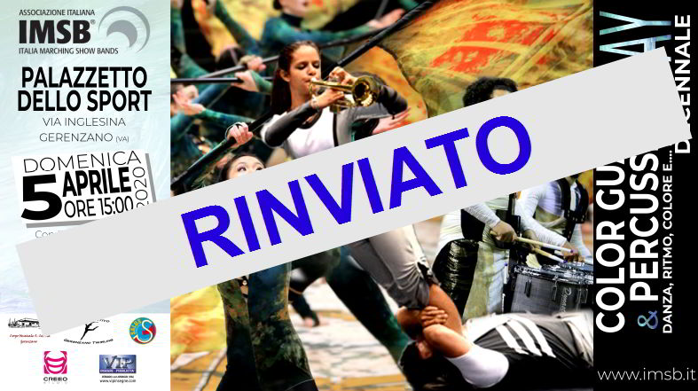 COLOR GUARD & PERCUSSION DAY RINVIATO A DATA DA DESTINARSI