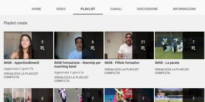 Play list canale YouTube di IMSB